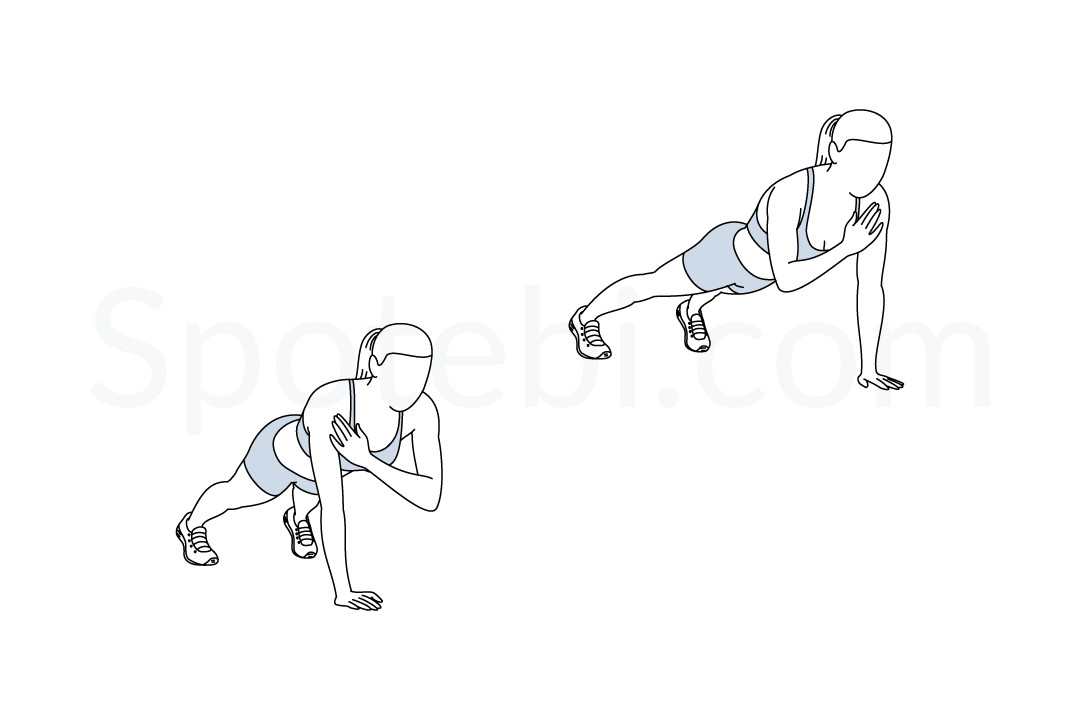 Plank Shoulder Taps | Illustrated Exercise Guide