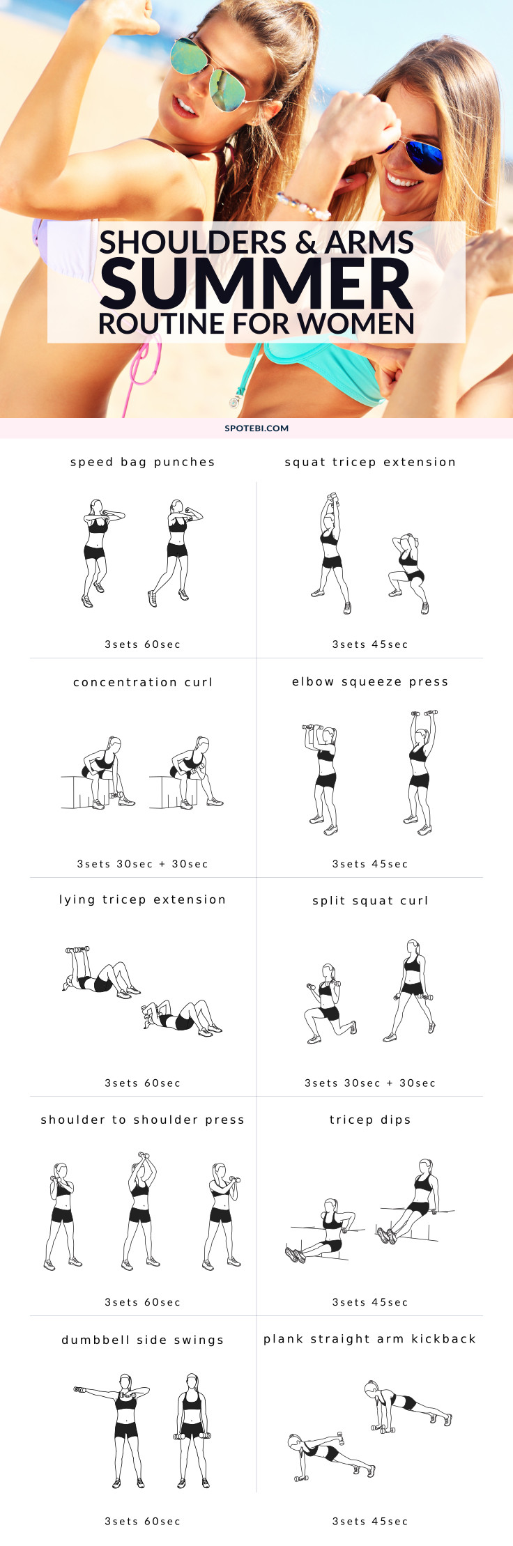 Shoulders & Arms Workout For Women