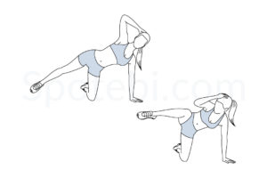 Triangle crunch exercise guide with instructions, demonstration, calories burned and muscles worked. Learn proper form, discover all health benefits and choose a workout. http://www.spotebi.com/exercise-guide/triangle-crunch/