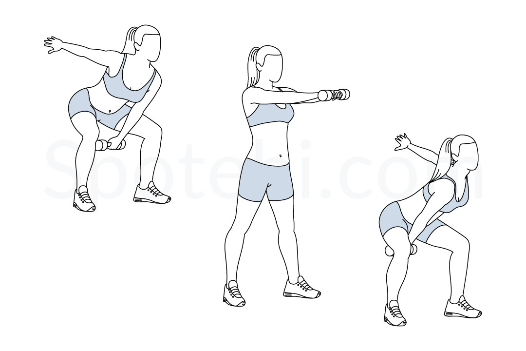 Alternating dumbbell swing exercise guide with instructions, demonstration, calories burned and muscles worked. Learn proper form, discover all health benefits and choose a workout. https://www.spotebi.com/exercise-guide/alternating-dumbbell-swing/