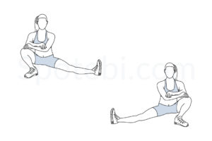 Cossack squat exercise guide with instructions, demonstration, calories burned and muscles worked. Learn proper form, discover all health benefits and choose a workout. http://www.spotebi.com/exercise-guide/cossack-squat/