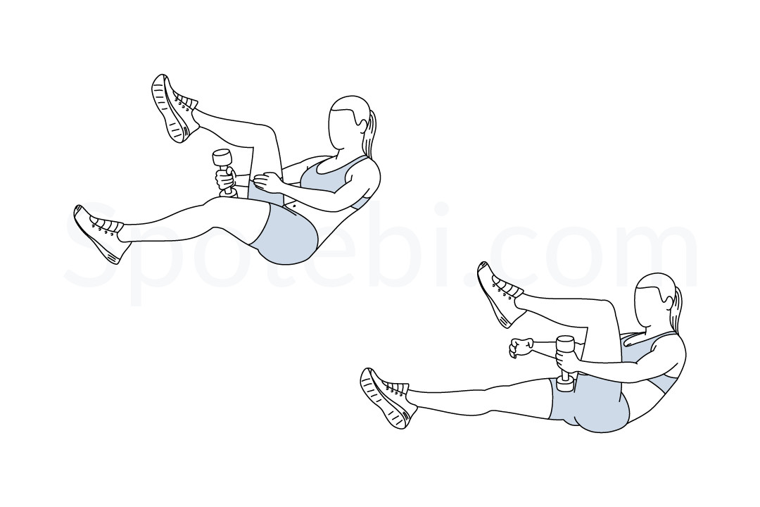 Dumbbell leg loop exercise guide with instructions, demonstration, calories burned and muscles worked. Learn proper form, discover all health benefits and choose a workout. https://www.spotebi.com/exercise-guide/dumbbell-leg-loop/