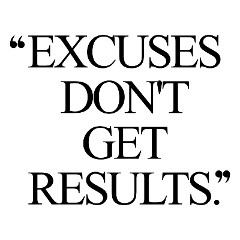 Excuses Don't Get Results | Exercise And Weight Loss Motivational Quote / @spotebi