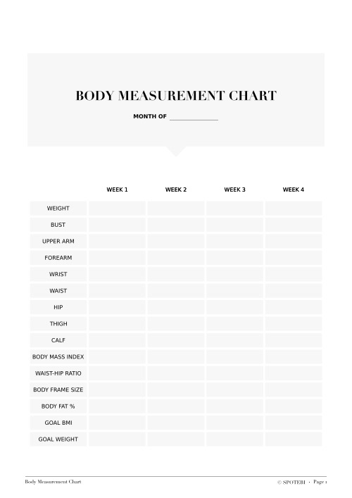Ideal Body Weight Printable / @spotebi