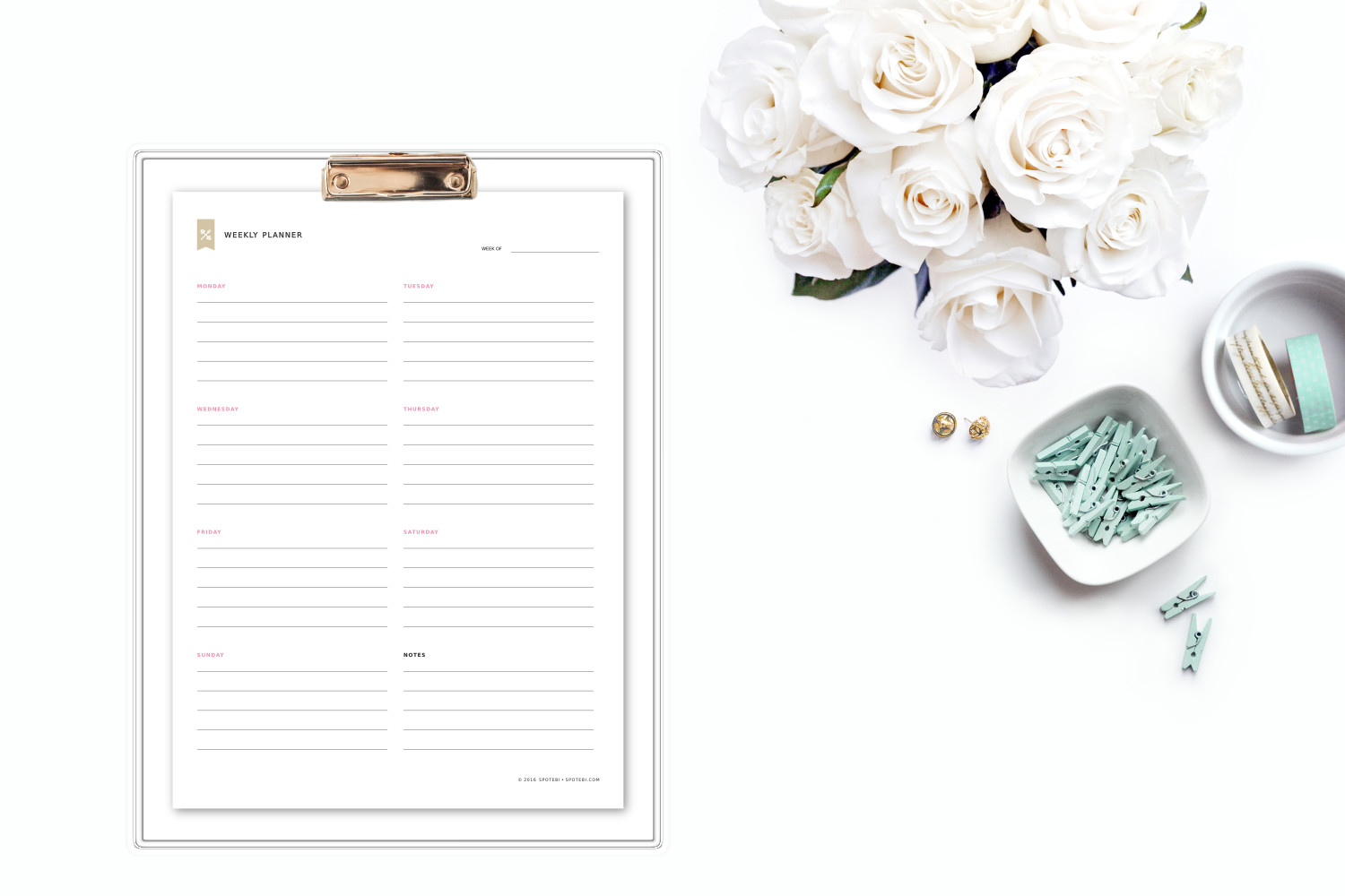 Get a weekly overview of your life with this free printable template. Set your top 3 priorities for the week and keep track of tasks, events, and appointments. Download and print our weekly planner template and start getting organized! https://www.spotebi.com/fitness-tracker/weekly-planner-template/