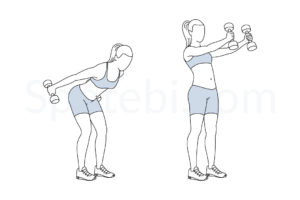 Dumbbell skier swing exercise guide with instructions, demonstration, calories burned and muscles worked. Learn proper form, discover all health benefits and choose a workout. http://www.spotebi.com/exercise-guide/dumbbell-skier-swing/