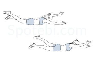 Pilates swimming exercise guide with instructions, demonstration, calories burned and muscles worked. Learn proper form, discover all health benefits and choose a workout. http://www.spotebi.com/exercise-guide/pilates-swimming/