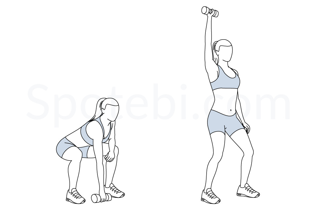 Single Arm Dumbbell Snatch | Illustrated Exercise Guide