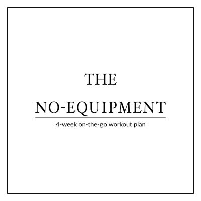 Sculpt your whole body while traveling or on vacation with our 4-week no-equipment workout plan for women. This high-intensity bodyweight plan is designed to help you maximize your metabolism, torch calories and build lean muscle on-the-go! http://www.spotebi.com/workout-plans/4-week-no-equipment-women/