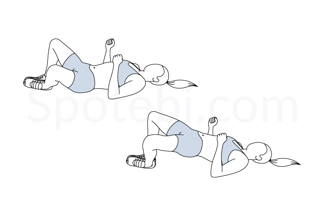 Frog bridge illustrated exercise guide for Plank muscles worked diagram