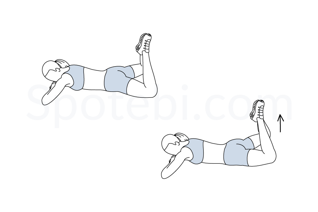 Pilates grasshopper exercise guide with instructions, demonstration, calories burned and muscles worked. Learn proper form, discover all health benefits and choose a workout. https://www.spotebi.com/exercise-guide/pilates-grasshopper/