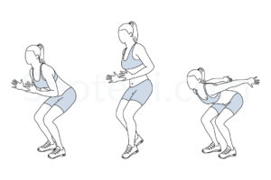 Forward jump shuffle back exercise guide with instructions, demonstration, calories burned and muscles worked. Learn proper form, discover all health benefits and choose a workout. http://www.spotebi.com/exercise-guide/forward-jump-shuffle-back/