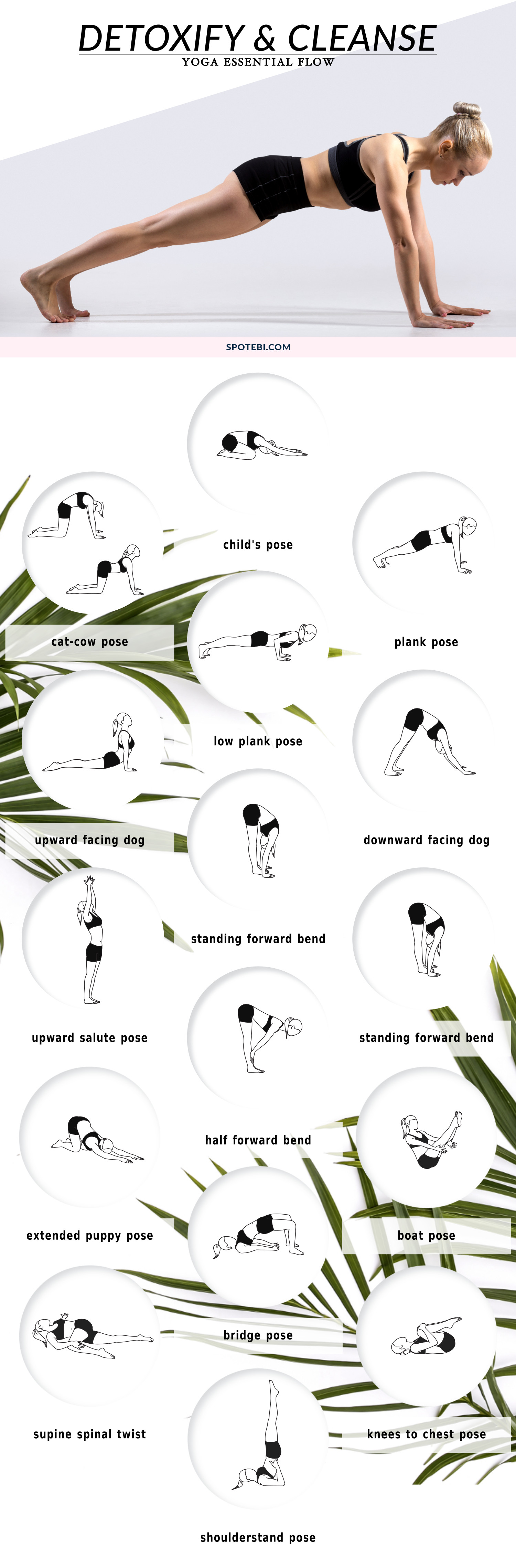 Cleanse your body and regain energy, naturally, with this yoga essential flow. Feel better after a night of partying or an indulgent vacation, detoxify your digestive system, and get back on track! https://www.spotebi.com/yoga-sequences/detoxify-cleanse/
