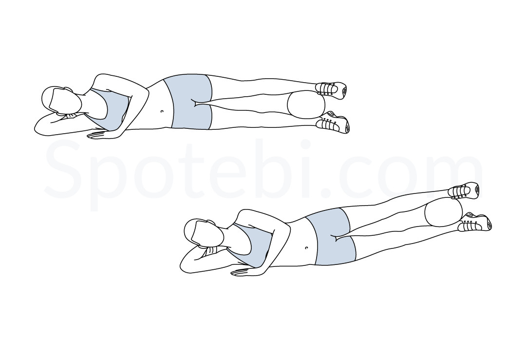 Inner thigh squeeze and lift exercise guide with instructions, demonstration, calories burned and muscles worked. Learn proper form, discover all health benefits and choose a workout. https://www.spotebi.com/exercise-guide/inner-thigh-squeeze-lift/