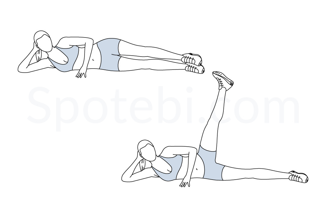 Side Lying Hip Abduction | Illustrated Exercise Guide