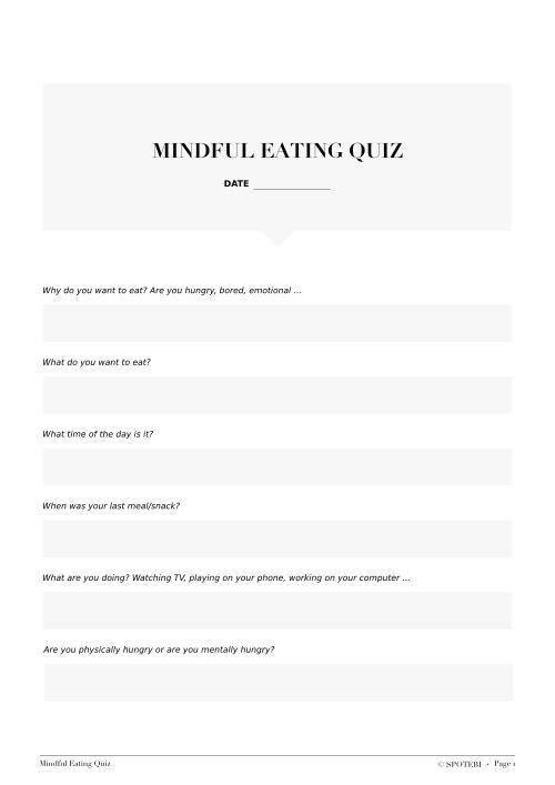 Mindful Eating Quiz / @spotebi