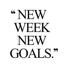 New Week New Goals | Exercise And Fitness Motivation / @spotebi