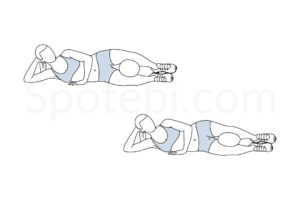 Reverse clamshell exercise guide with instructions, demonstration, calories burned and muscles worked. Learn proper form, discover all health benefits and choose a workout. http://www.spotebi.com/exercise-guide/reverse-clamshell/