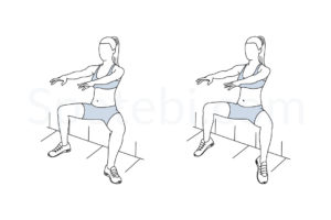 Wall sit plie calf raise exercise guide with instructions, demonstration, calories burned and muscles worked. Learn proper form, discover all health benefits and choose a workout. http://www.spotebi.com/exercise-guide/wall-sit-plie-calf-raise/