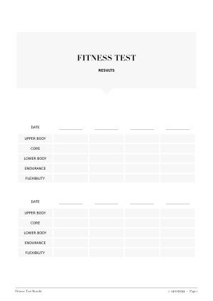 Fitness Test Results/ @spotebi