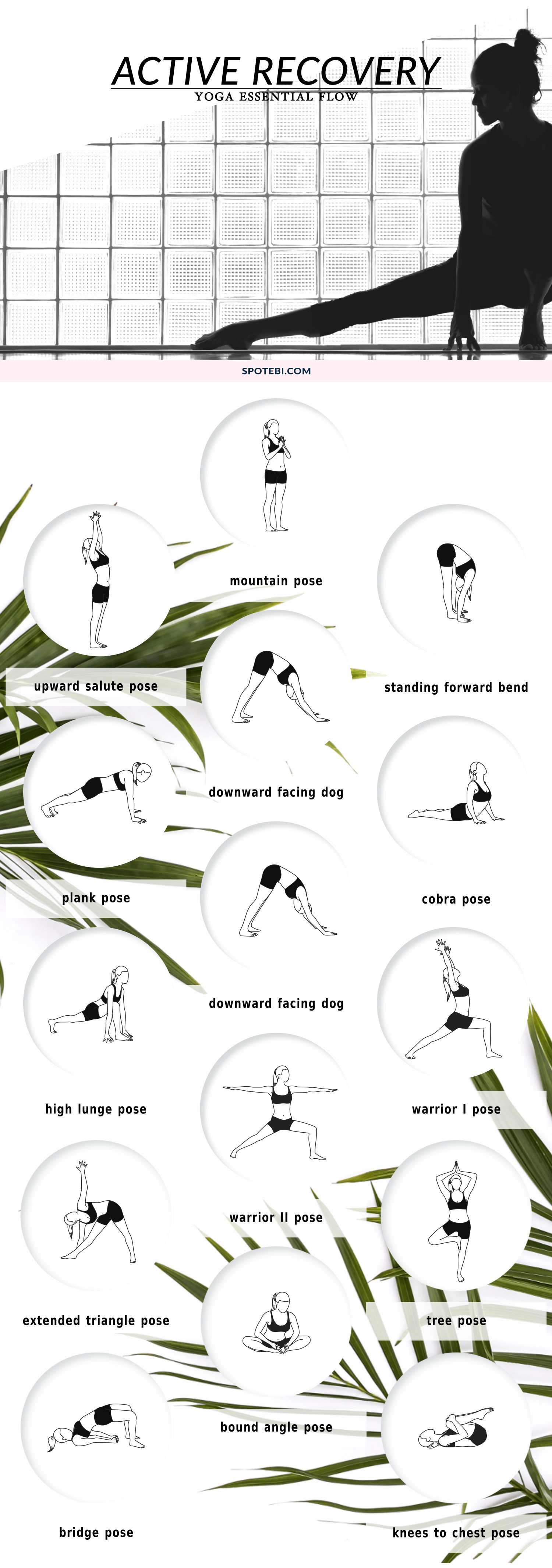 Turn your rest days into active recovery and maximize your body's repair with this 19-minute yoga essential flow. Take deep breaths to increase blood flow, and lengthen your muscles and tendons to increase your body's mobility and flexibility. http://www.spotebi.com/yoga-sequences/pms-cramps-relief-flow/