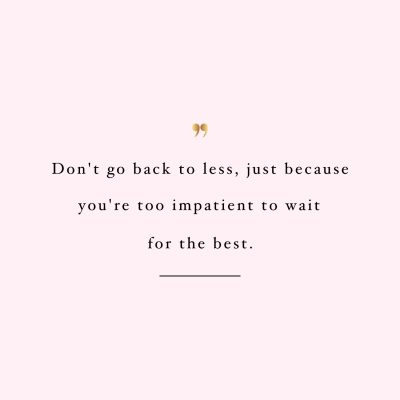 Be Patient | Training And Weight Loss Motivation / @spotebi