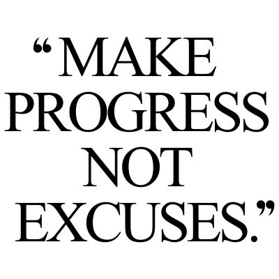 Make Progress Exercise And Healthy Eating Quote / @spotebi
