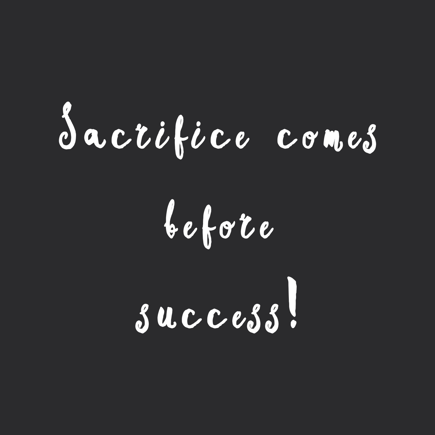 Sacrifice before success! Browse our collection of motivational exercise and healthy eating quotes and get instant weight loss and fitness inspiration. Stay focused and get fit, healthy and happy! https://www.spotebi.com/workout-motivation/sacrifice-before-success/