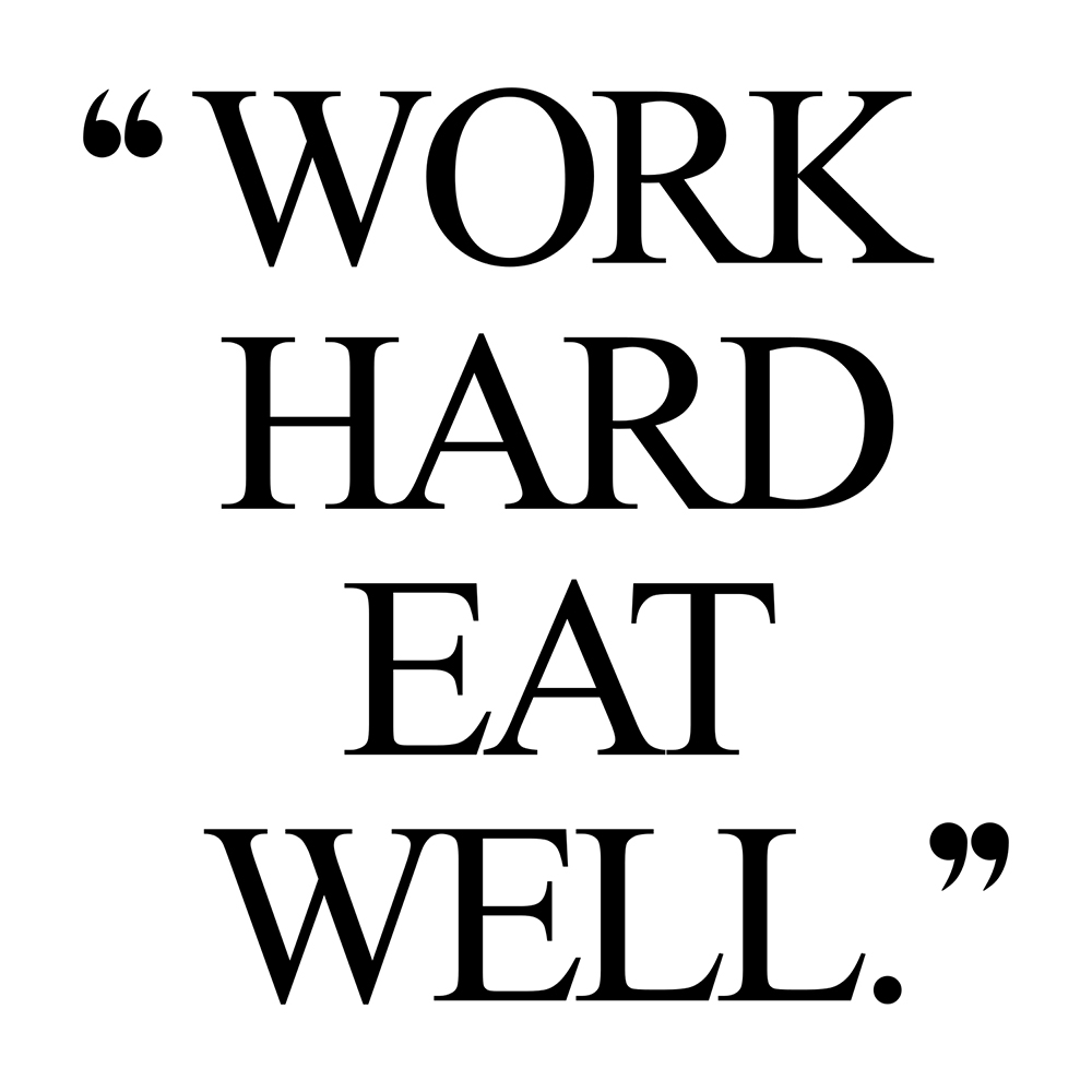 Work hard eat well! Browse our collection of motivational wellness quotes and get instant fitness and healthy lifestyle inspiration. Stay focused and get fit, healthy and happy! https://www.spotebi.com/workout-motivation/work-hard-eat-well/