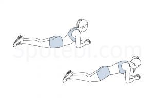Abdominal Bridge Exercise Guide / @spotebi