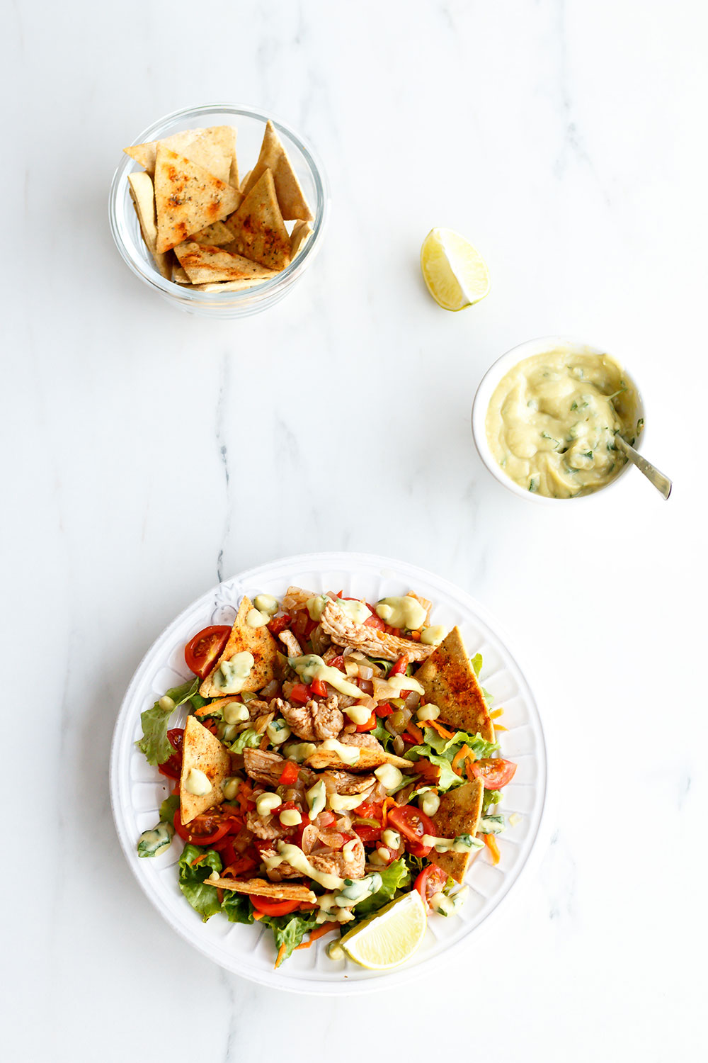 Chickpea Nachos Recipe: A balanced, yummy and fulfilling meal that's 100% homemade! https://www.spotebi.com/recipes/chickpea-nachos/