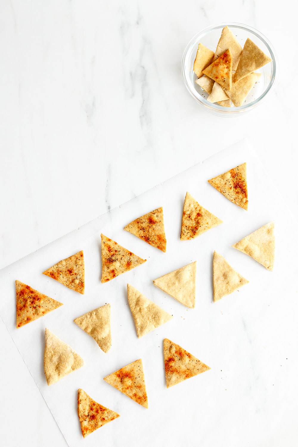 Chickpea Tortilla Chips Recipe: A high-protein and high-fiber savory snack to keep you full and satisfied for longer! https://www.spotebi.com/recipes/chickpea-tortilla-chips/
