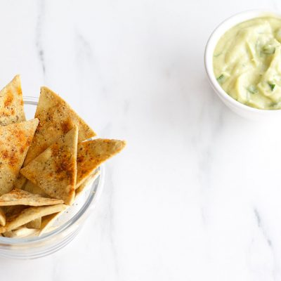 Chickpea Tortilla Chips Recipe / @spotebi