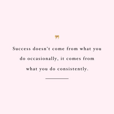 Consistency Is The Key | Self Love And Wellness Motivation / @spotebi