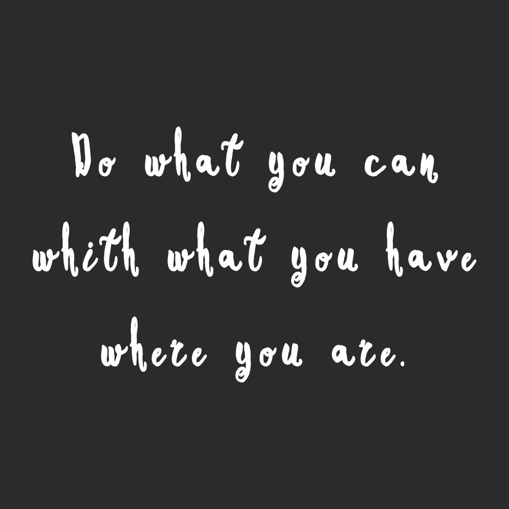 Do what you can! Browse our collection of inspirational self-love and wellness quotes and get instant fitness and healthy lifestyle motivation. Stay focused and get fit, healthy and happy! https://www.spotebi.com/workout-motivation/do-what-you-can/