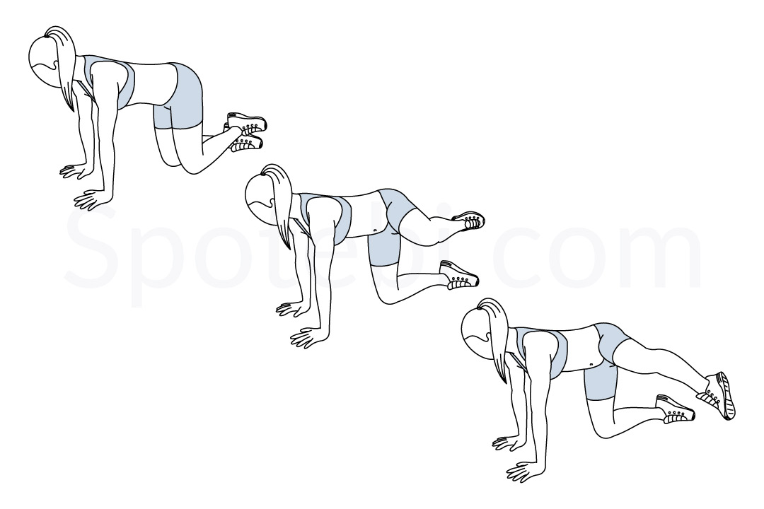Kneeling roundhouse kick exercise guide with instructions, demonstration, calories burned and muscles worked. Learn proper form, discover all health benefits and choose a workout. https://www.spotebi.com/exercise-guide/kneeling-roundhouse-kick/