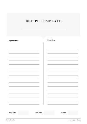 Recipe Template / @spotebi