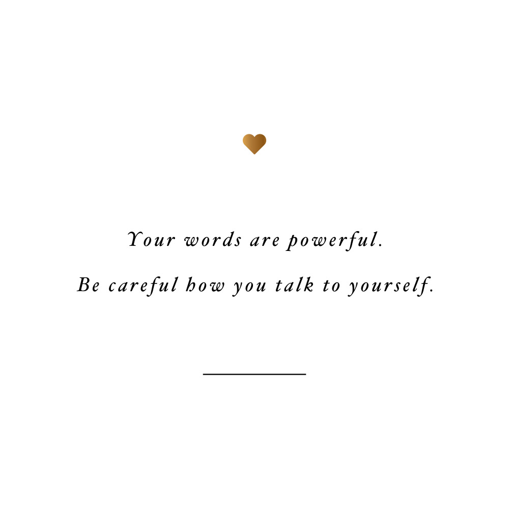Words are powerful! Browse our collection of inspirational self-love and wellness quotes and get instant fitness and healthy lifestyle motivation. Stay focused and get fit, healthy and happy! https://www.spotebi.com/workout-motivation/words-are-powerful/