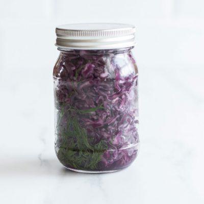Fermented Purple Sauerkraut Recipe / @spotebi