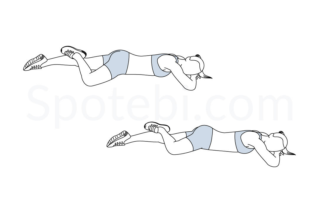 Hip external rotation exercise guide with instructions, demonstration, calories burned and muscles worked. Learn proper form, discover all health benefits and choose a workout. https://www.spotebi.com/exercise-guide/hip-external-rotation/