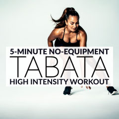 No-Equipment Tabata Workout with Tabata Timer and Music Playlist / @spotebi