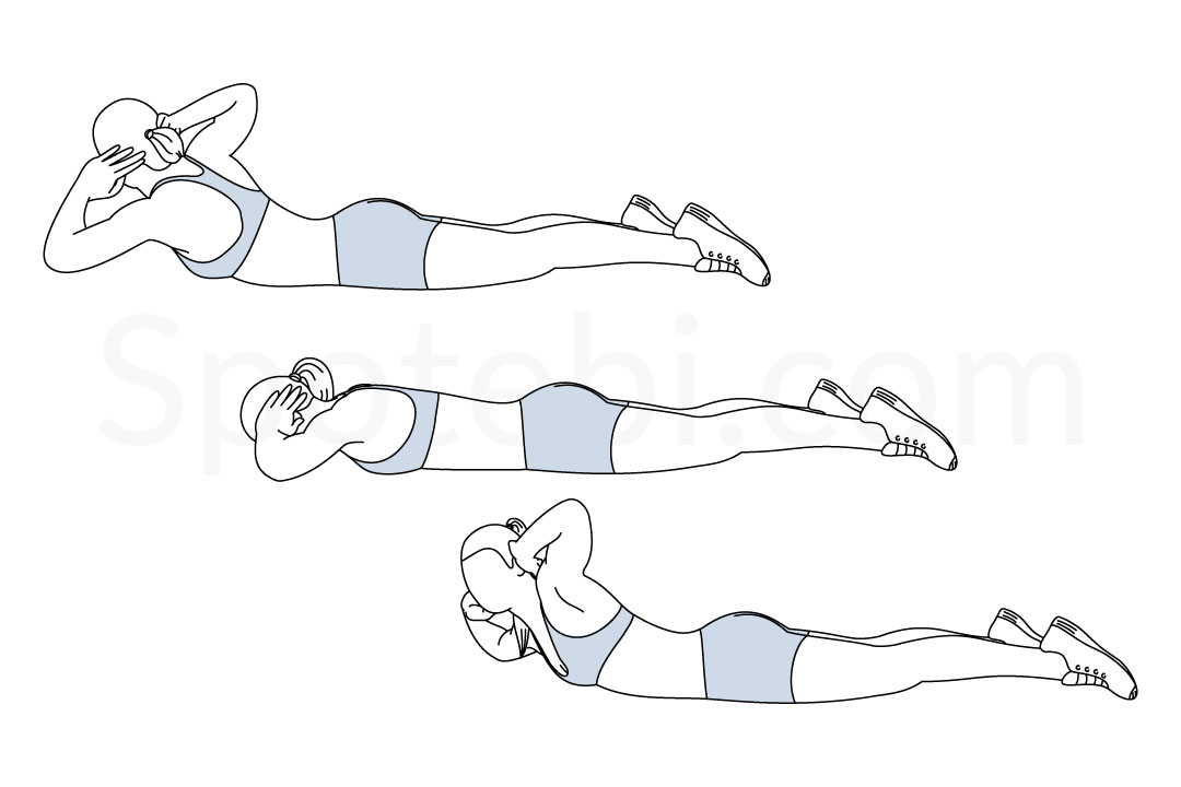 Superman twist exercise guide with instructions, demonstration, calories burned and muscles worked. Learn proper form, discover all health benefits and choose a workout. https://www.spotebi.com/exercise-guide/superman-twist/