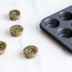 Clean Green Veggie Egg Muffins Recipe / @spotebi