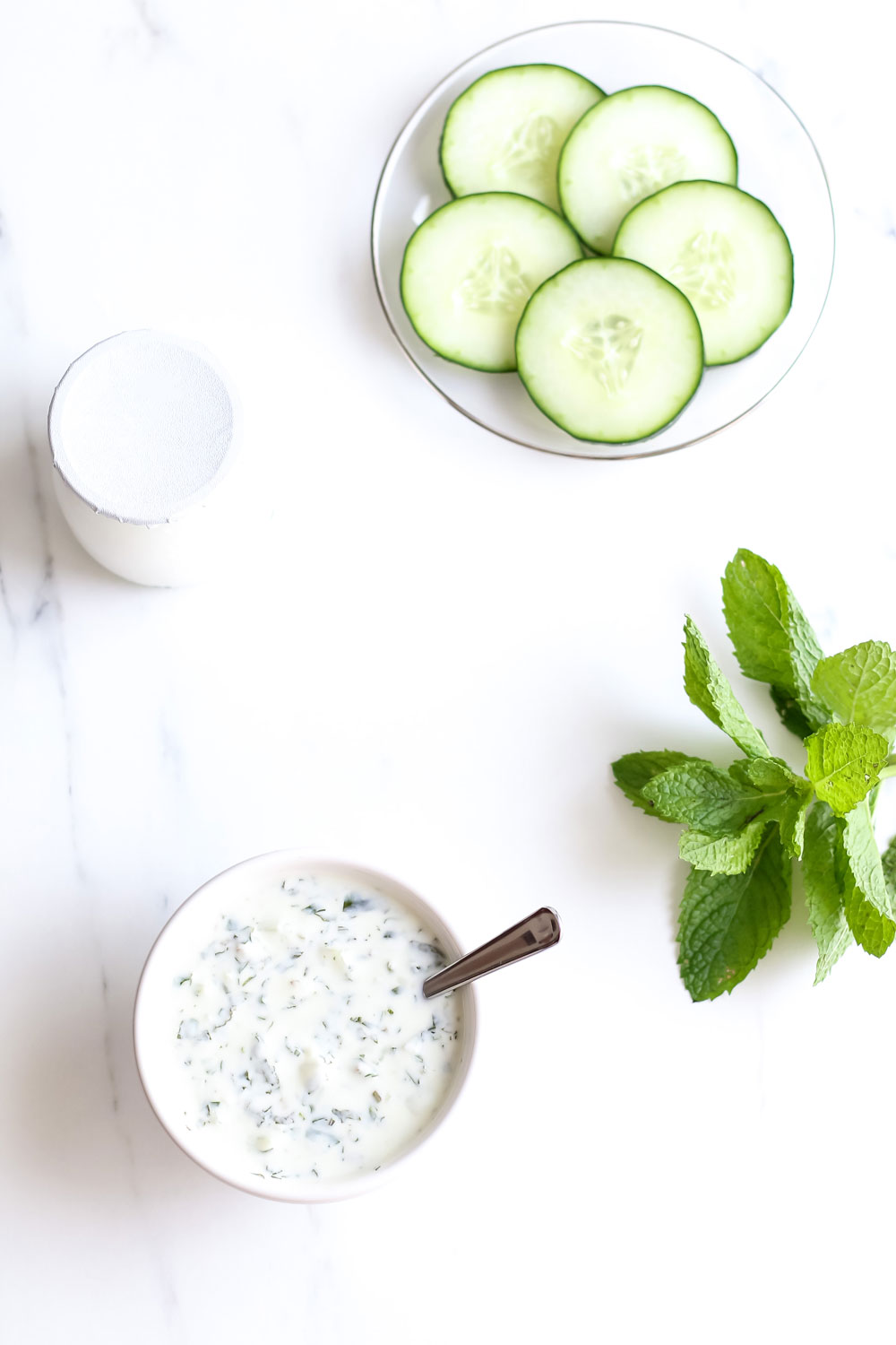 Creamy Kefir Salad Dressing Recipe: Deliciously creamy cucumber mint dressing to add the perfect probiotic boost to your salads! https://www.spotebi.com/recipes/creamy-kefir-salad-dressing/