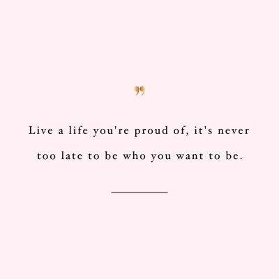 Live A Life You're Proud Of | Training And Healthy Eating Quote / @spotebi