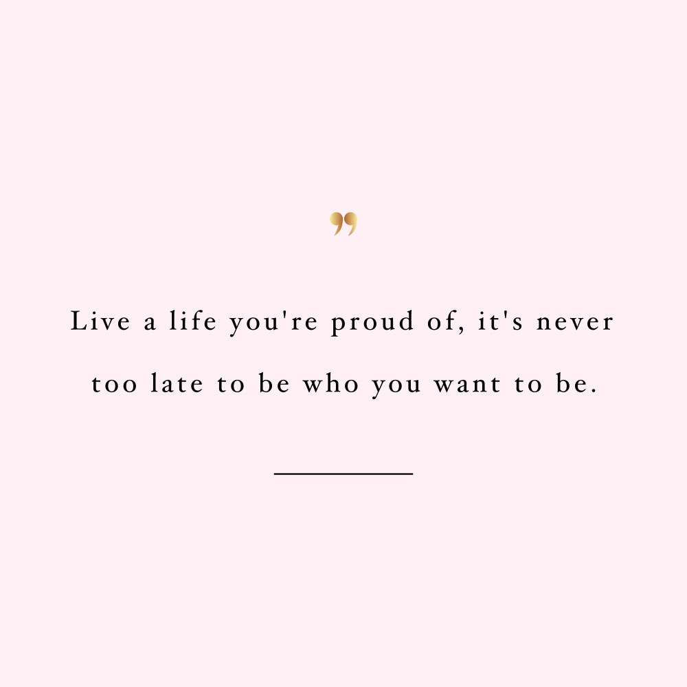 Live a life you're proud of! Browse our collection of inspirational training and healthy eating quotes and get instant fitness and wellness motivation. Stay focused and get fit, healthy and happy! https://www.spotebi.com/workout-motivation/live-a-life-you-are-proud-of/