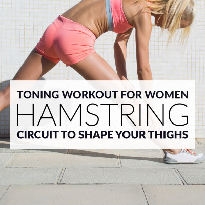 At Home HAMSTRING WORKOUT to Strengthen, Tone & Shape The Back of Your Thighs! / @spotebi