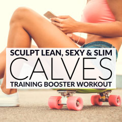 Quick CALF WORKOUT! Best Exercises for Sexy, Slim Calves! / @spotebi