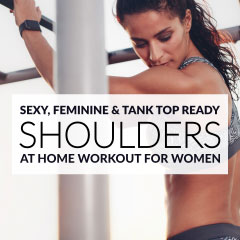 Build Sexy, Feminine and Tank Top Ready Shoulders with our favorite SHOULDER WORKOUT! / @spotebi