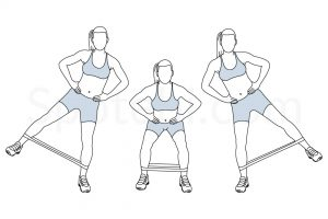 Squat Band Hip Abduction Exercise Guide / @spotebi